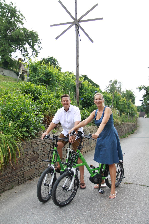 E-Fahrräder als sanfte und touristische Mobilitätslösung im Weinbau. @ Roman Musch, LK-Stmk
