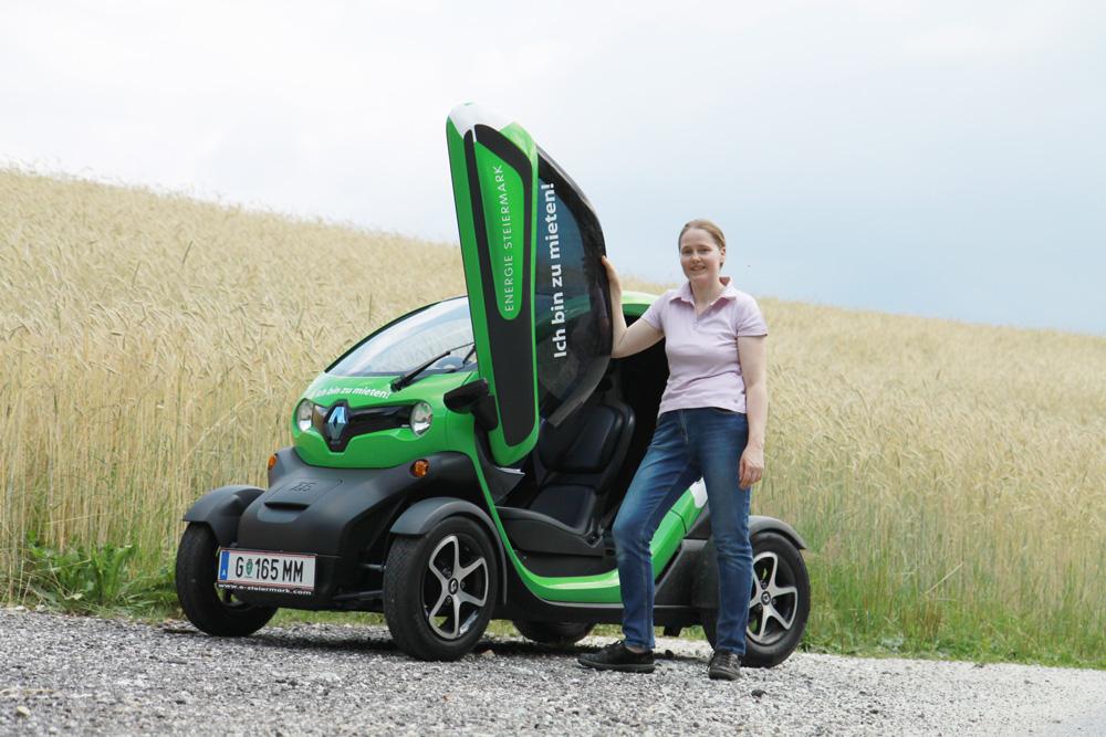 Mit dem E-Twizzy von Renault auf Ackerschau. @ Roman Musch, LK-Stmk